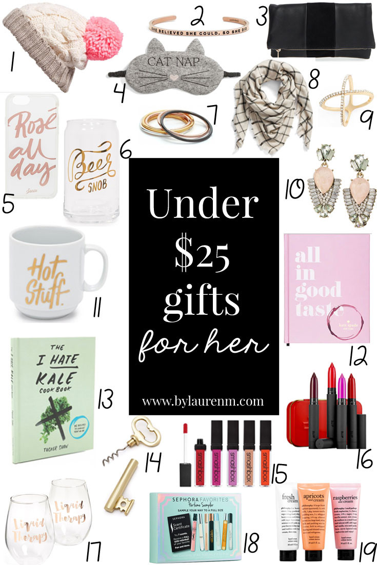 Best ideas about Gift Ideas Under $25 . Save or Pin Under $25 Gifts for Her Now.
