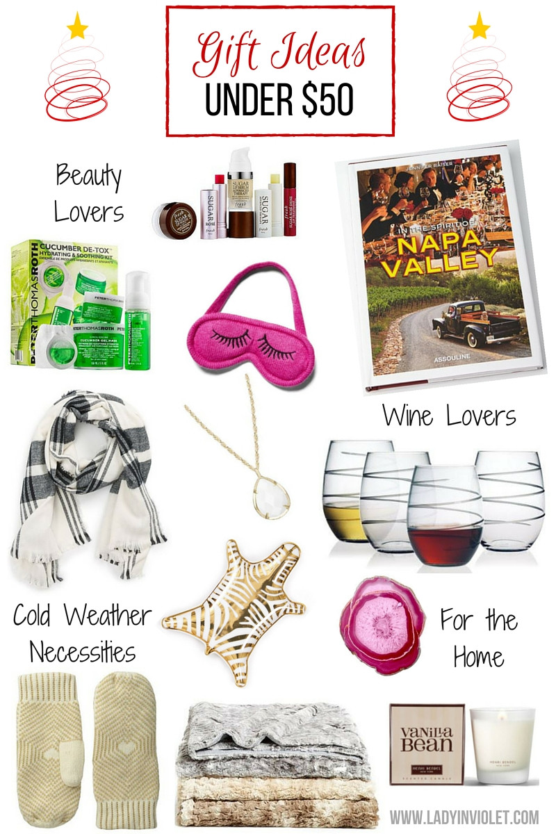 Best ideas about Gift Ideas Under 50 . Save or Pin Gift Guide Under $50 Lady in VioletLady in Violet Now.