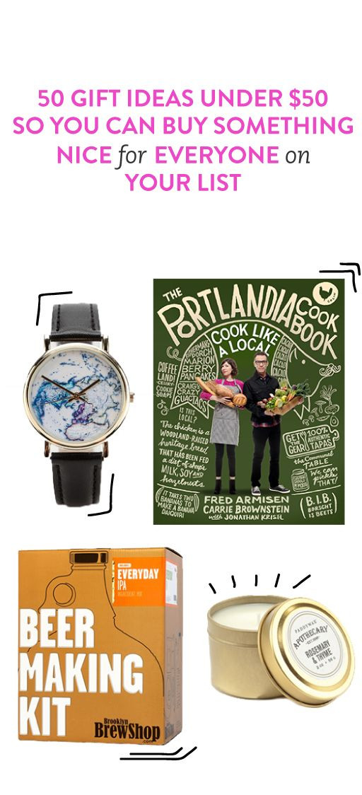 Best ideas about Gift Ideas Under 50 . Save or Pin 50 Cheap Gift Ideas Under $50 Because Everyone Loves A Now.