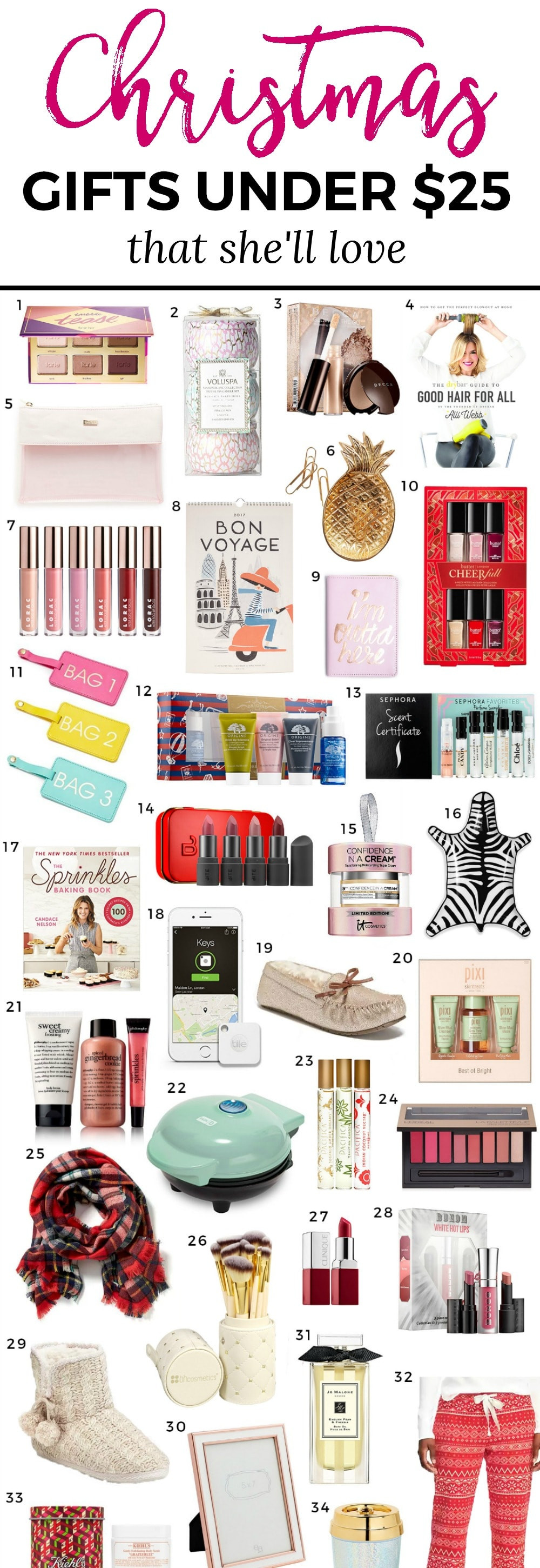 Best ideas about Gift Ideas Young Adults Under 25 . Save or Pin The Best Christmas Gift Ideas for Women under $25 Now.