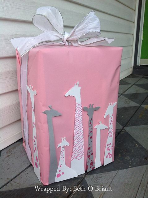 Best ideas about Gift Wrapping Ideas For Baby Shower . Save or Pin Giraffe Baby Shower Gift Wrap Now.