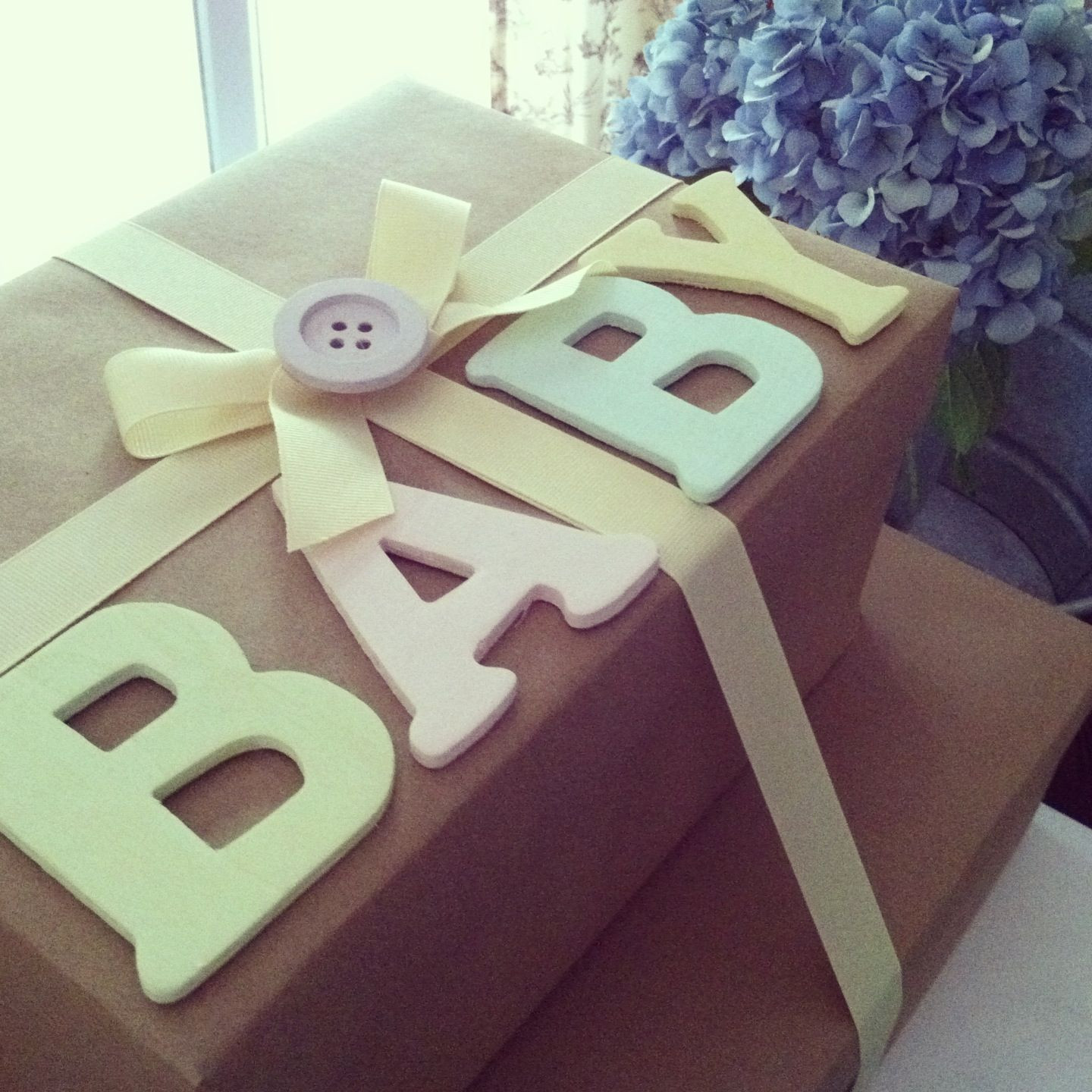 Best ideas about Gift Wrapping Ideas For Baby Shower . Save or Pin Baby Shower t wrapping brownpaper wrapping baby Now.