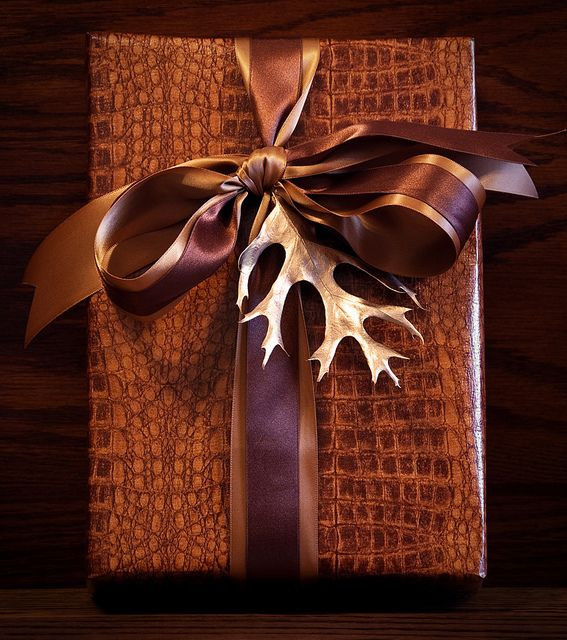 Best ideas about Gift Wrapping Ideas For Him . Save or Pin Gift wrapping for him leather tone paper rich browns Now.