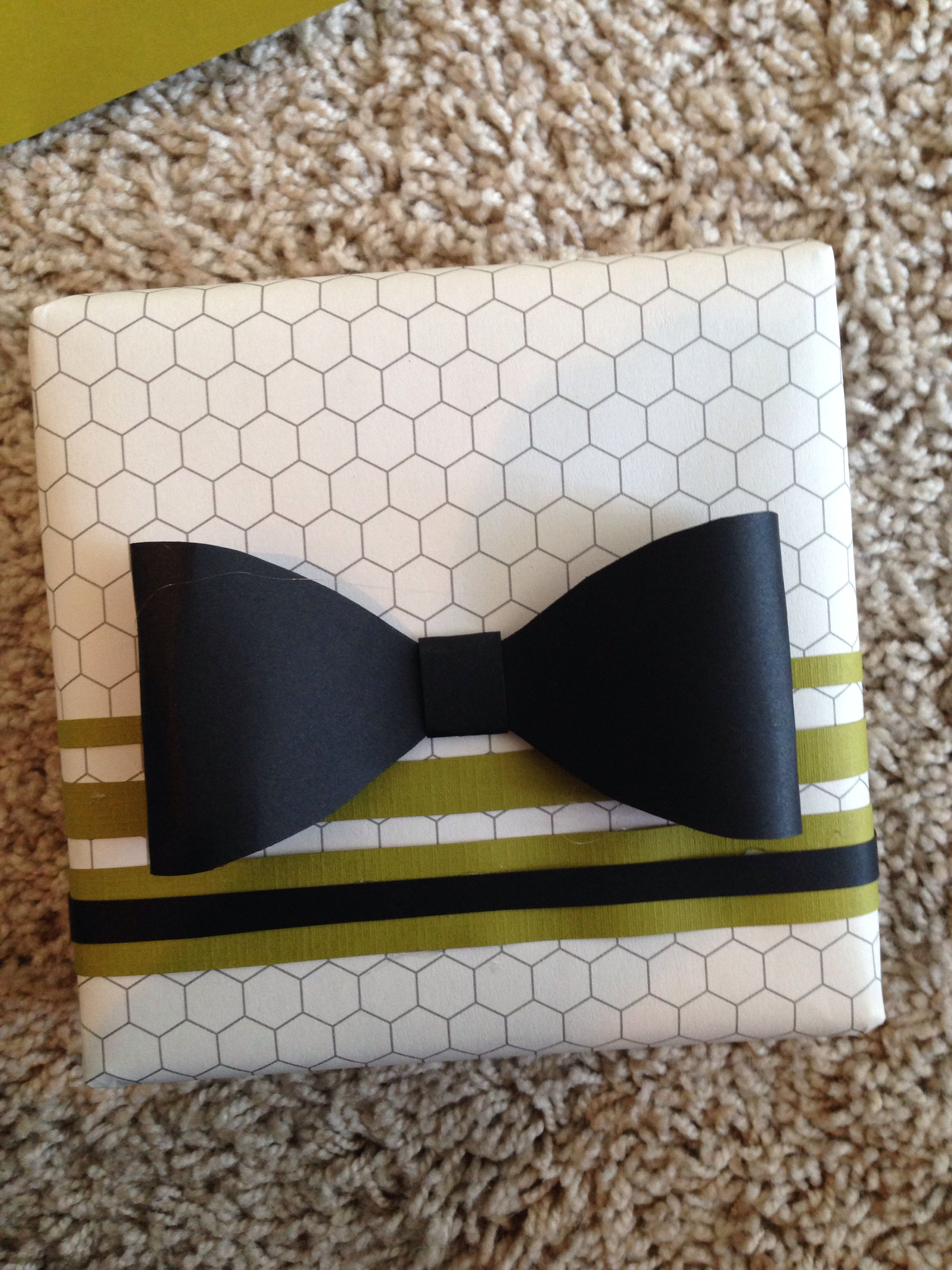 Best ideas about Gift Wrapping Ideas For Him . Save or Pin DIY t wrap for him with bow tie DIY By Me Now.