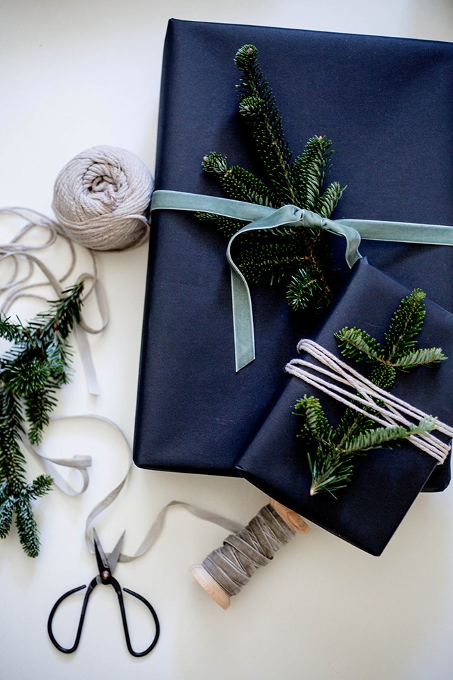 Best ideas about Gift Wrapping Ideas Ribbon . Save or Pin WILDFLOWERS BLOG GIFT WRAPPING WITH FRESH PINE Now.