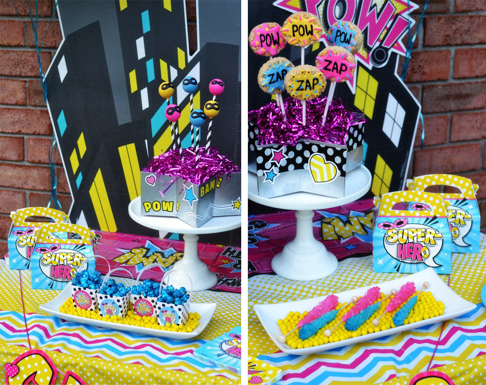 Best ideas about Girl Birthday Party Supplies . Save or Pin Girl Superhero Party by Brittany Schwaigert Now.