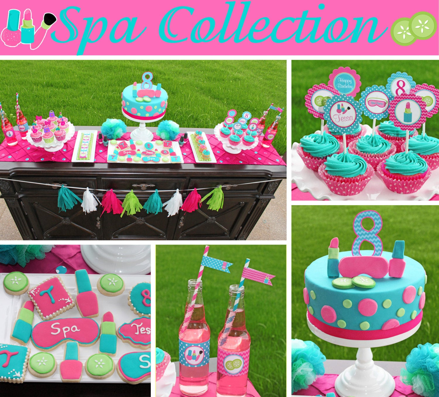 Best ideas about Girl Birthday Party Supplies . Save or Pin Spa food labels girls Birthday Party PRINTABLE pedi manicure Now.