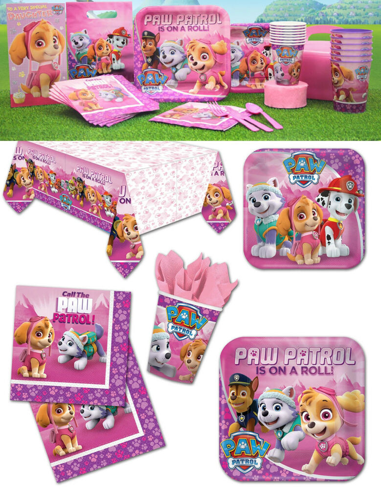 Best ideas about Girl Birthday Party Supplies . Save or Pin Pink Paw Patrol Girls Birthday Party Supplies Tableware Now.