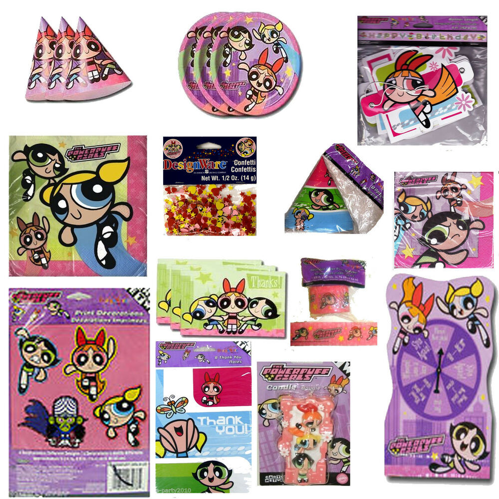 Best ideas about Girl Birthday Party Supplies . Save or Pin POWERPUFF GIRLS Birthday Party Supplies Create Your Set Now.