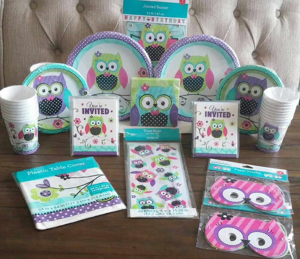Best ideas about Girl Birthday Party Supplies . Save or Pin Pretty OWL Girl Birthday Premium Kit Serves 16 Party Now.