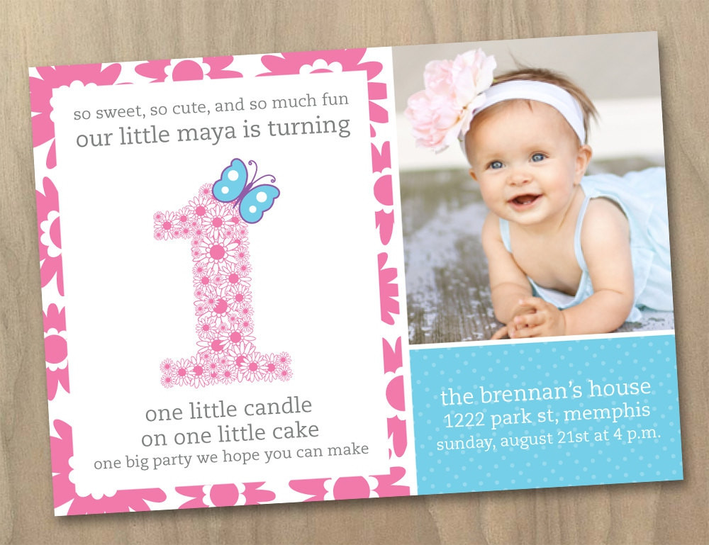 Best ideas about Girl First Birthday Invitations . Save or Pin Birthday Invitations Templates first birthday invitations Now.