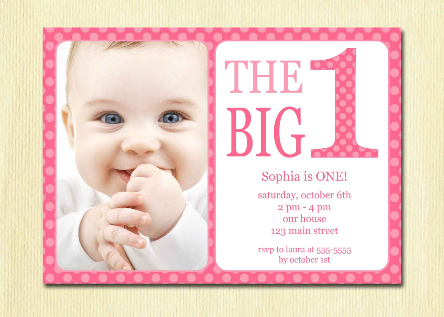 Best ideas about Girl First Birthday Invitations . Save or Pin First Birthday Baby Girl Invitation DIY Printable Now.