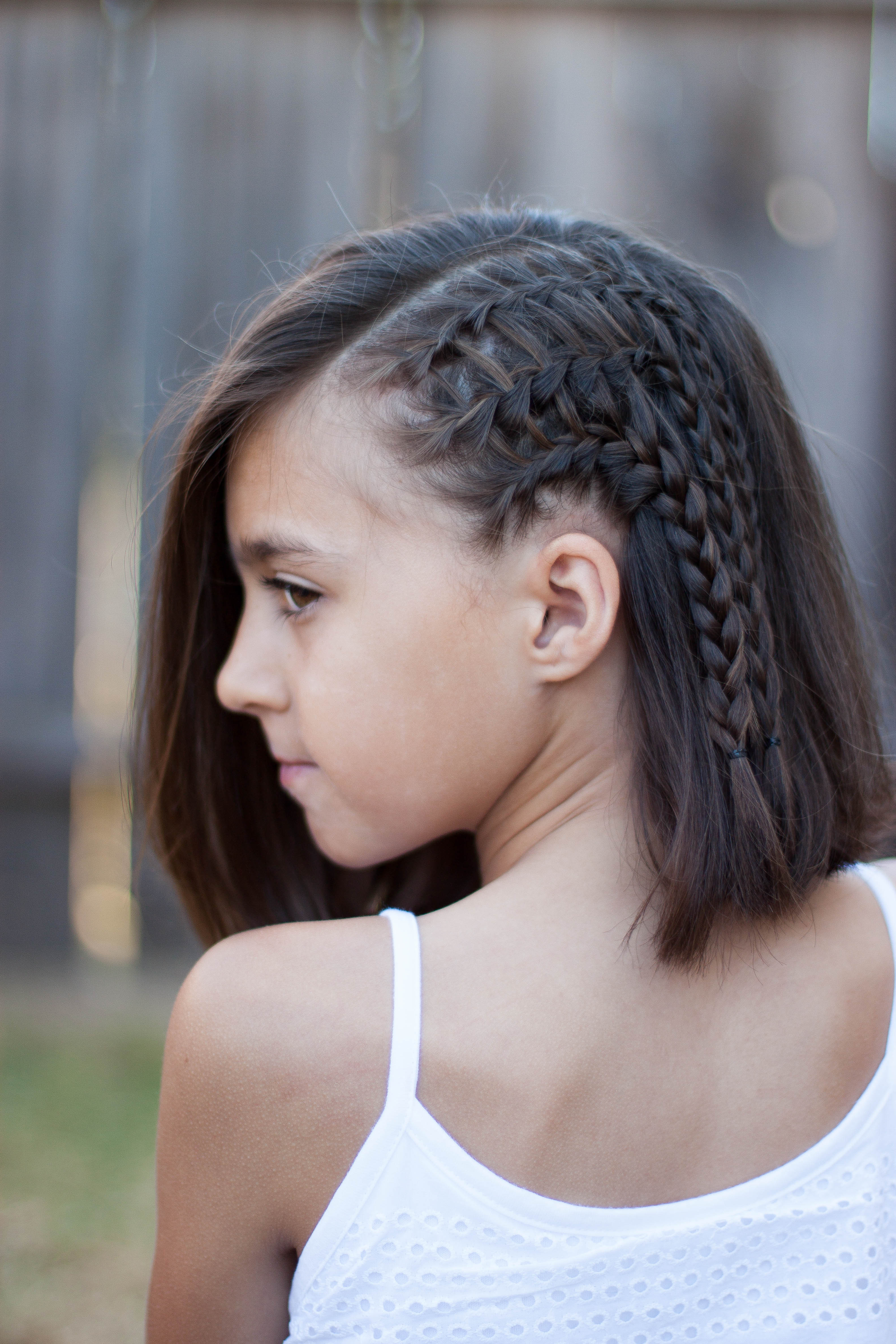 Best ideas about Girl Hairstyle . Save or Pin 5 Braids for Short Hair Now.