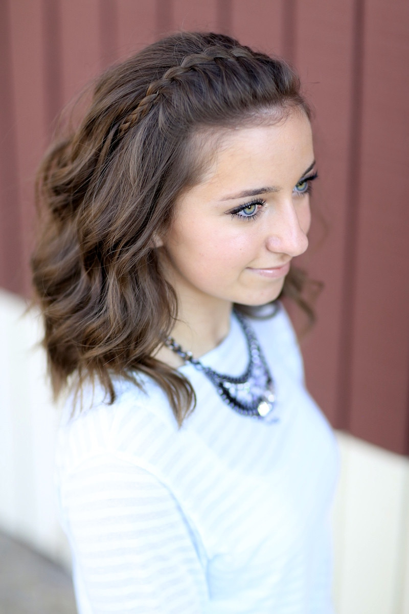Best ideas about Girl Hairstyle . Save or Pin DIY Faux Waterfall Headband Now.