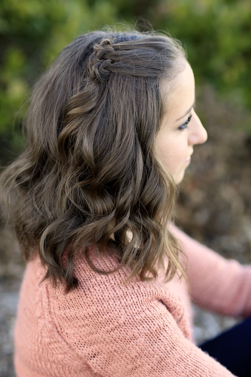 Best ideas about Girl Hairstyle . Save or Pin Triple Knot Accents Short Hairstyles Now.