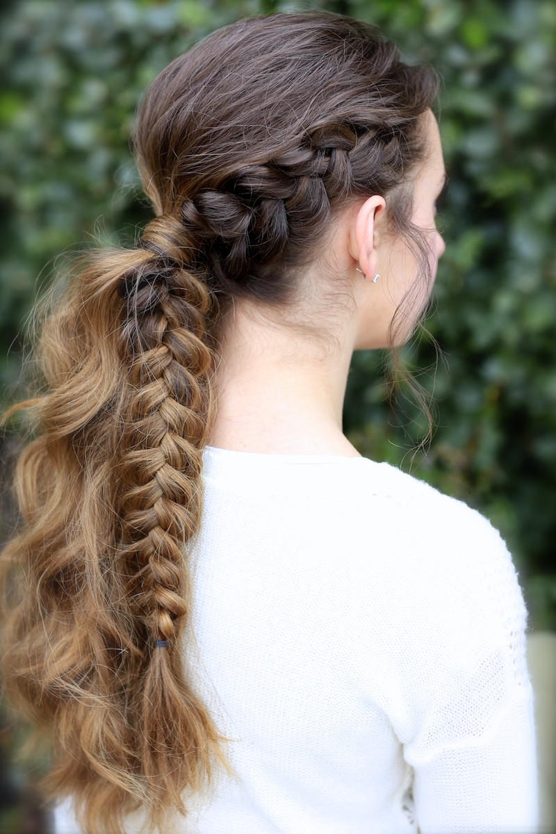 Best ideas about Girl Hairstyle . Save or Pin The Viking Braid Ponytail Hairstyles for Sports Now.