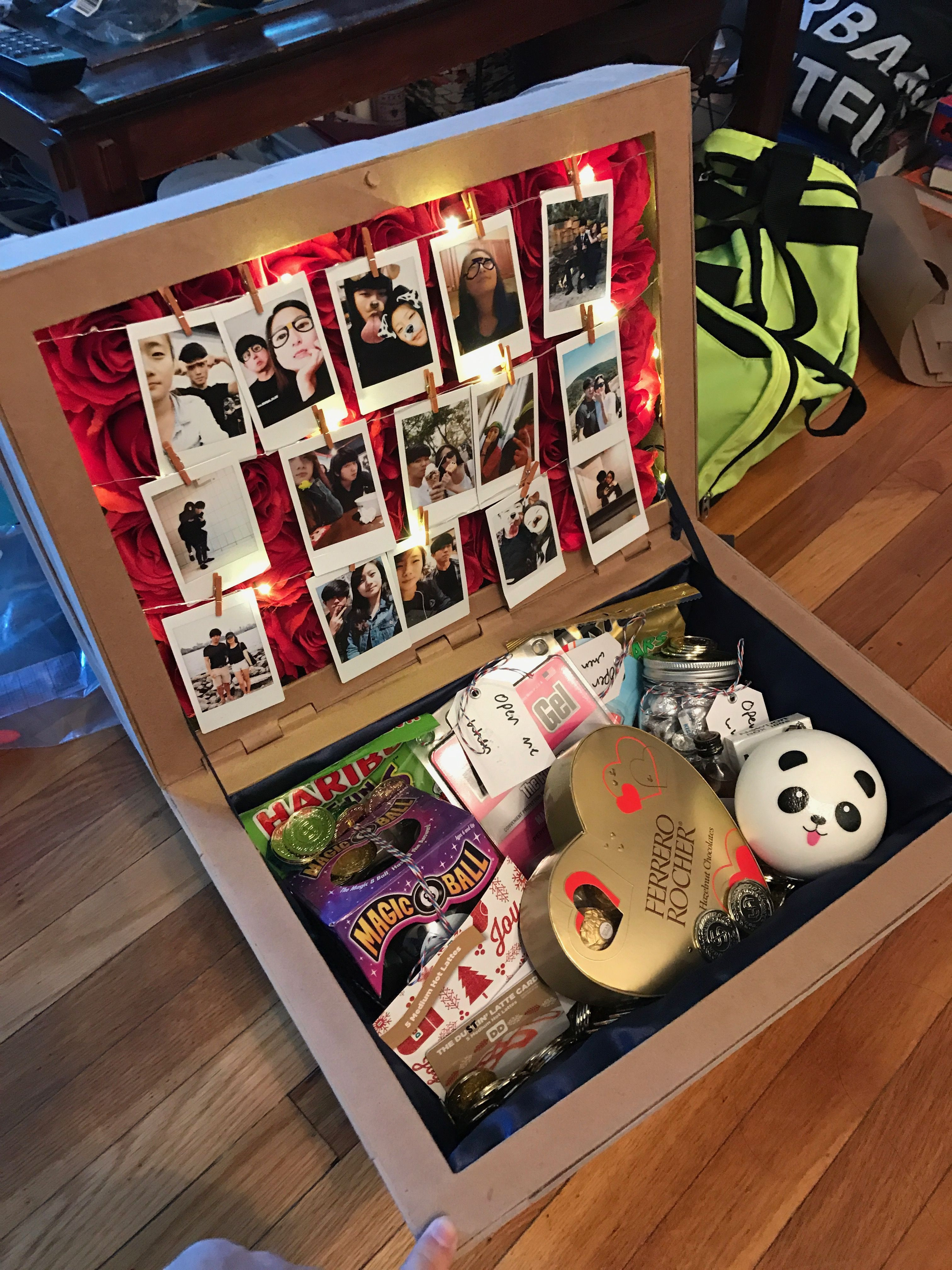 Best ideas about Girlfriend Christmas Gift Ideas . Save or Pin I made a Treasure Chest out of paper for my girlfriend Now.
