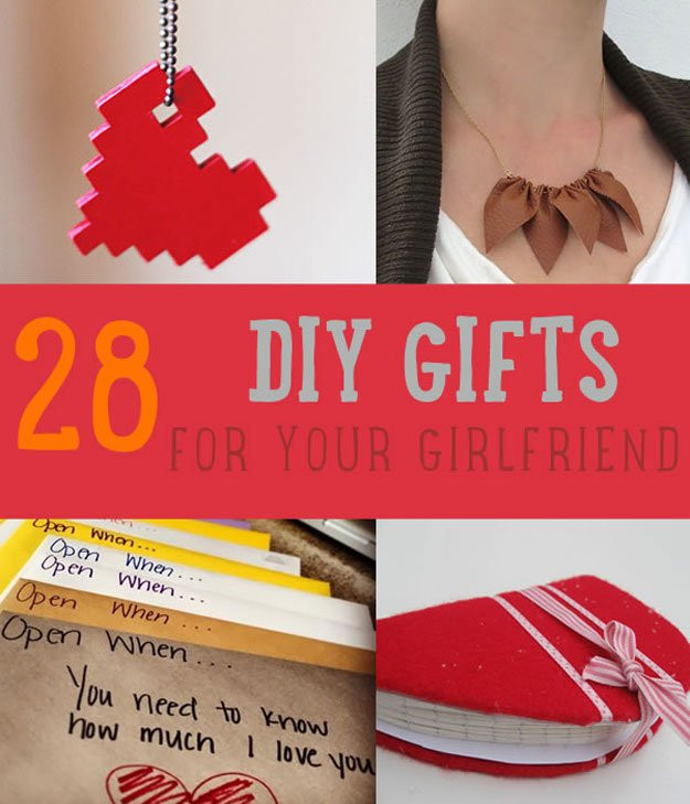 Best ideas about Girlfriend Christmas Gift Ideas . Save or Pin 28 DIY Gifts For Your Girlfriend Now.