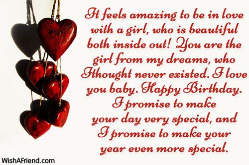 Best ideas about Girlfriends Birthday Wishes . Save or Pin Birthday Wishes For Girlfriend Now.