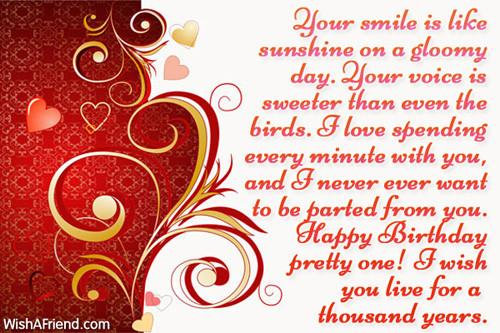 Best ideas about Girlfriends Birthday Wishes . Save or Pin Quotes For Girlfriend Birthday Wishes QuotesGram Now.