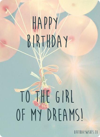 Best ideas about Girlfriends Birthday Wishes . Save or Pin 50 Happy Birthday Wishes For Girlfriend With Now.