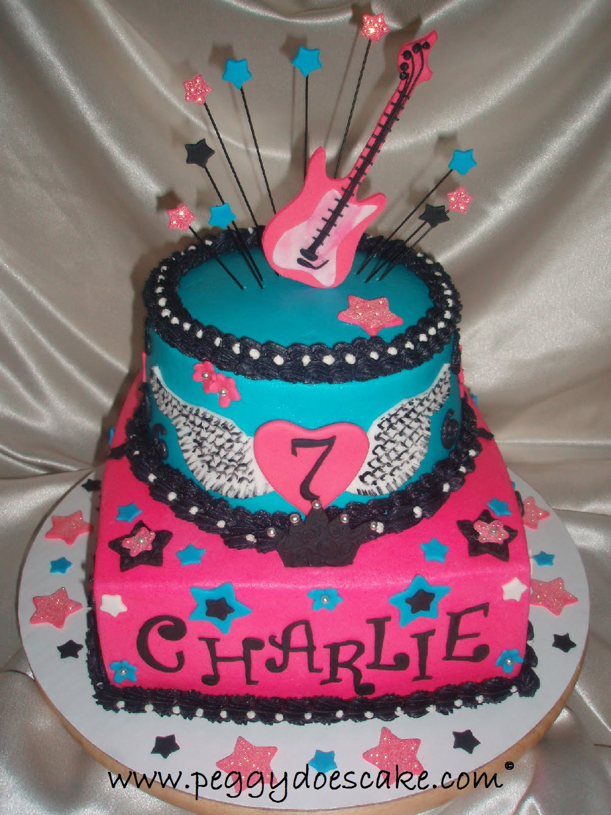 Best ideas about Girls Birthday Cake . Save or Pin Peggy Does Cake Rocker Girl Birthday Cake photos Now.