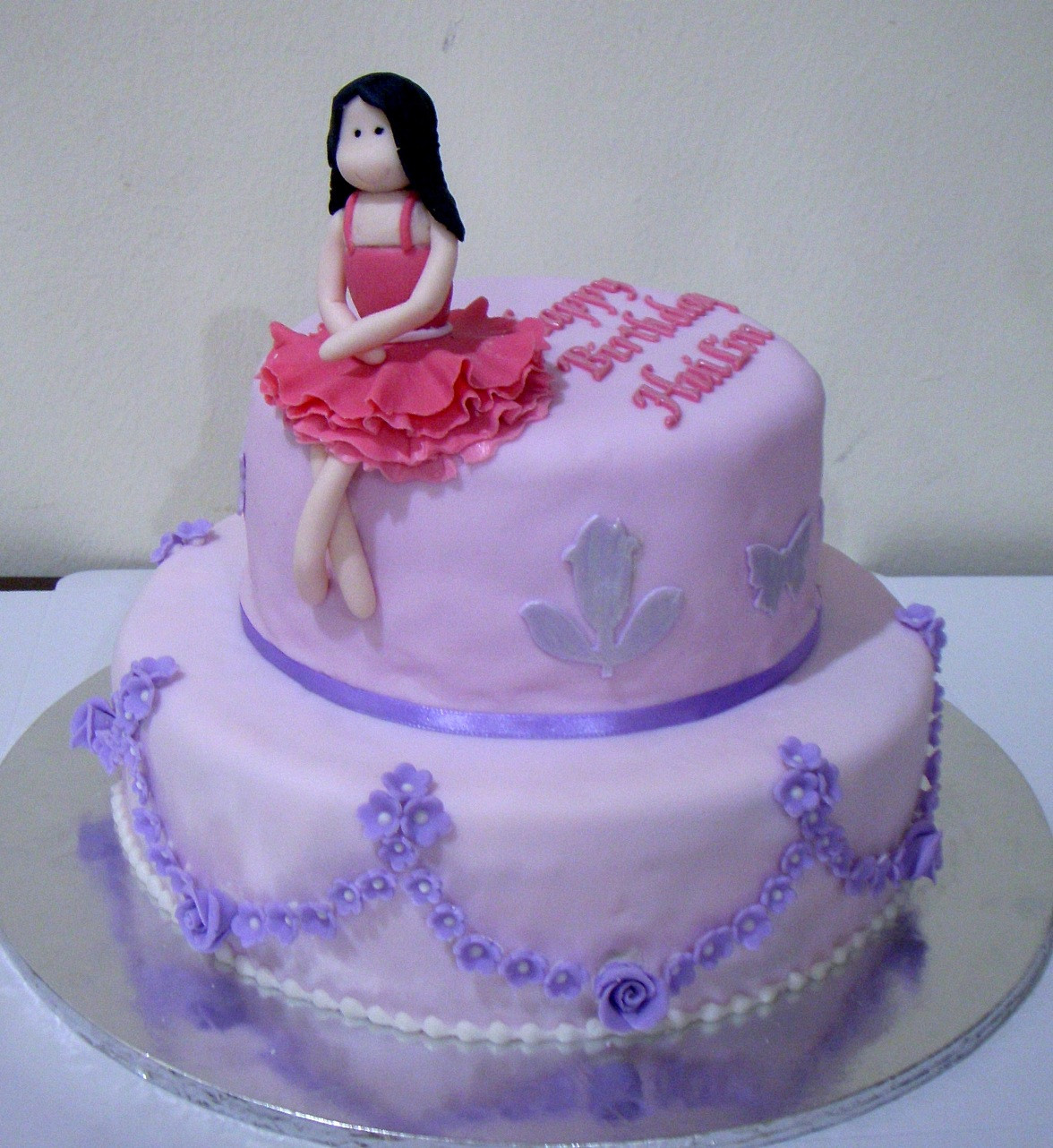 Best ideas about Girls Birthday Cake . Save or Pin Bearylicious Cakes Purple birthday cake with girl Now.