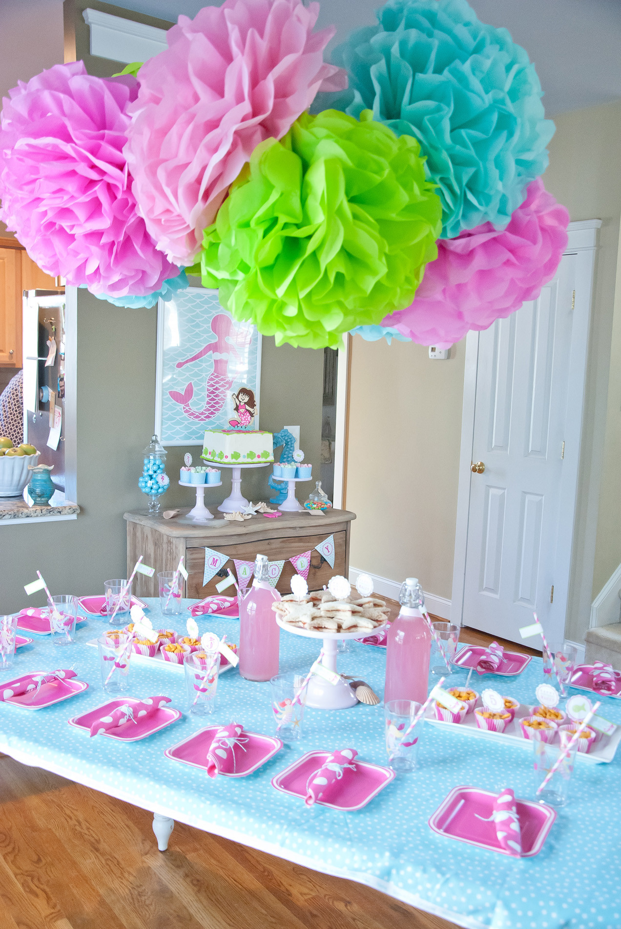 Best ideas about Girls Birthday Party . Save or Pin A Dreamy Mermaid Birthday Party Anders Ruff Custom Now.