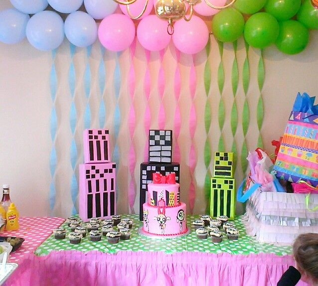Best ideas about Girls Birthday Party Decorations . Save or Pin PowerPuff girls party 3rd Birthday party My daughters Now.