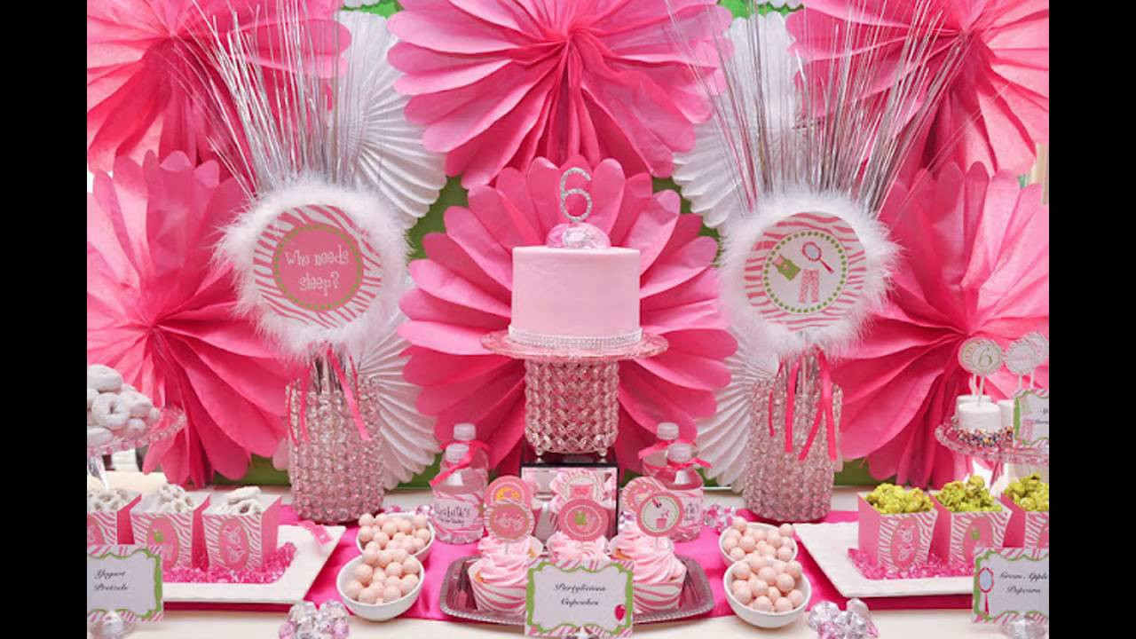 Best ideas about Girls Birthday Party Decorations . Save or Pin Cute Girl birthday party decoration ideas Now.