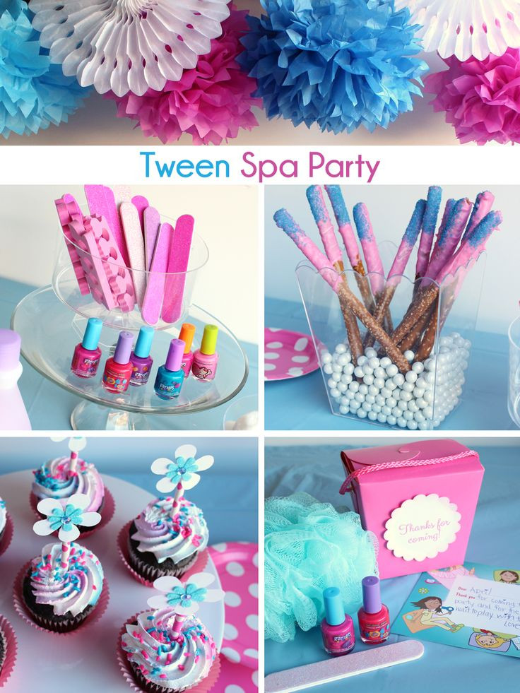 Best ideas about Girls Birthday Party Decorations . Save or Pin Tween Spa Party Ideas décor activities and sweets to Now.
