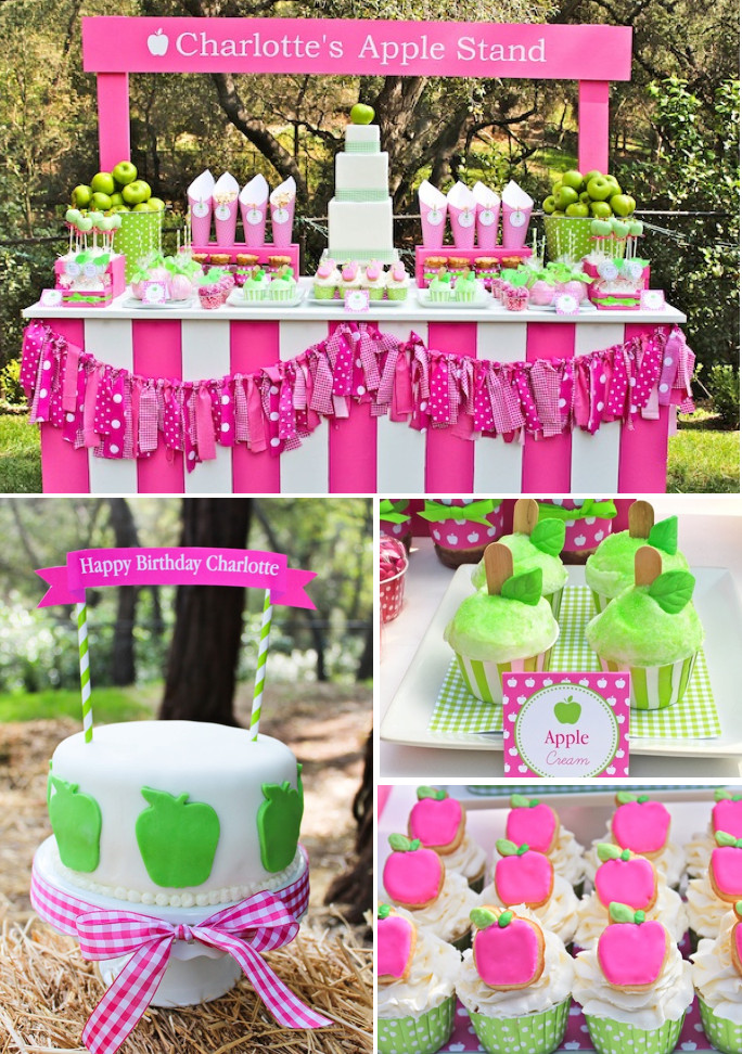 Best ideas about Girls Birthday Party Decorations . Save or Pin Kara s Party Ideas Apple of My Eye Girl Pink Green Fruit Now.