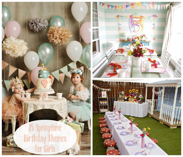 Best ideas about Girls Birthday Party . Save or Pin Little Lovables Lovely Springtime Birthday Party Themes Now.