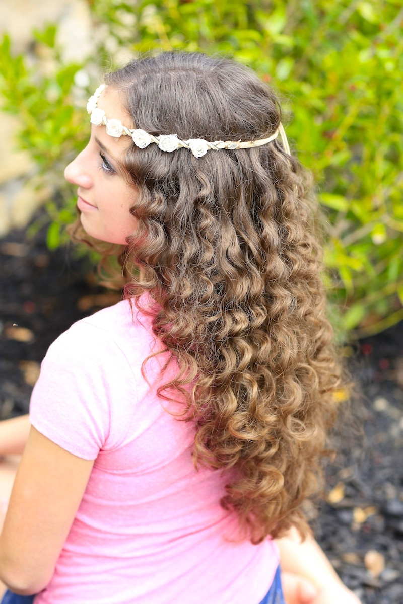 "Best ideas about Girls Curls Hairstyles . Save or Pin How to Create ""No Heat"" Paper Towel Curls Now."