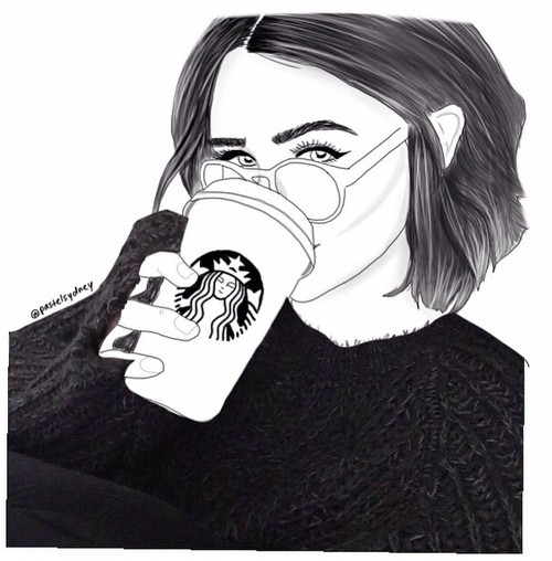 Best ideas about Girls Drinking Starbucks Coloring Sheets For Girls . Save or Pin Image about tumblr in grunge sketch by idlesmiles Now.