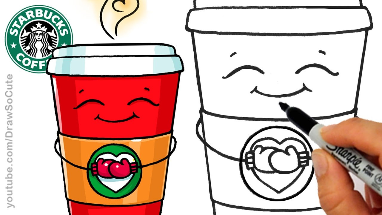 Best ideas about Girls Drinking Starbucks Coloring Sheets For Girls . Save or Pin How to Draw a Hot Starbucks Drink step by step Easy and Now.