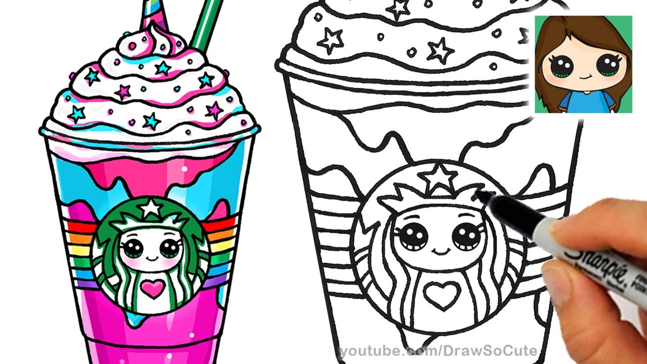 Best ideas about Girls Drinking Starbucks Coloring Sheets For Girls . Save or Pin How to Draw a Starbucks Unicorn Frappuccino Now.