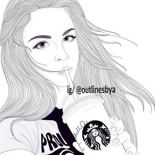 Best ideas about Girls Drinking Starbucks Coloring Sheets For Girls . Save or Pin Pin van Nina Veenendaal op Tekeningen Tumblr girl Now.
