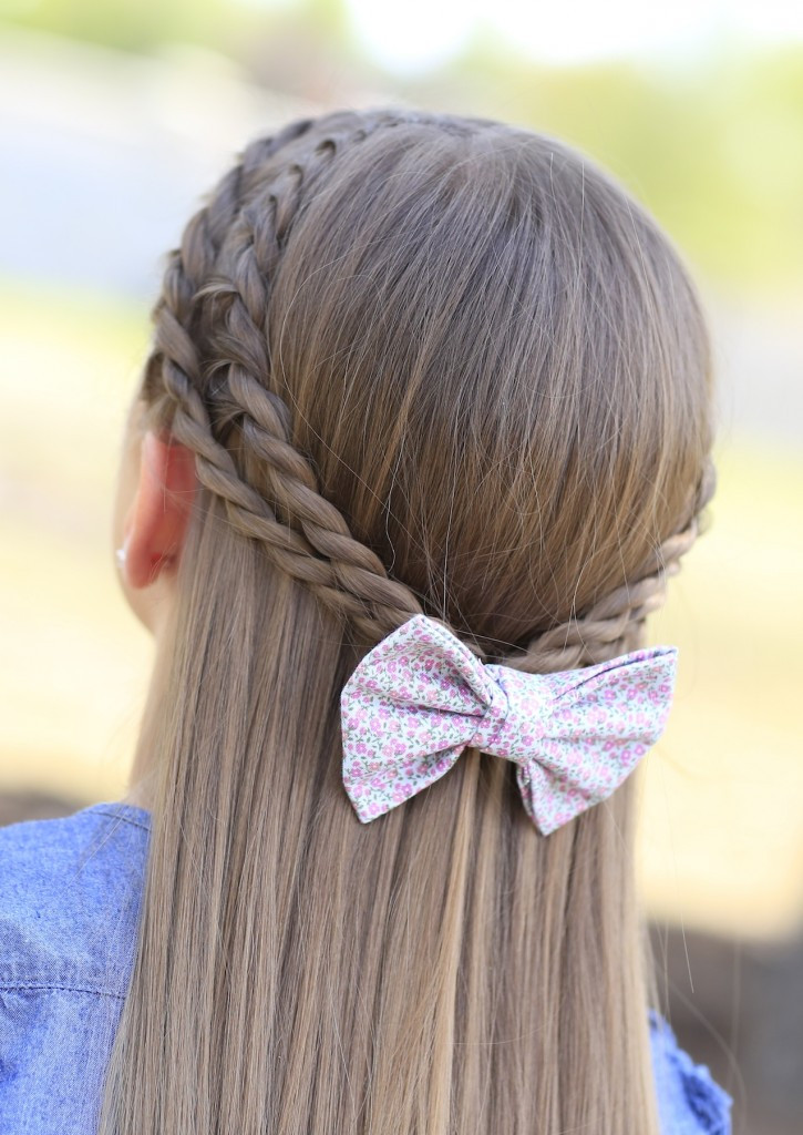 Best ideas about Girls Hair Cut Styles . Save or Pin How to Create a Zig Zag Twistback Cute Hairstyles Now.