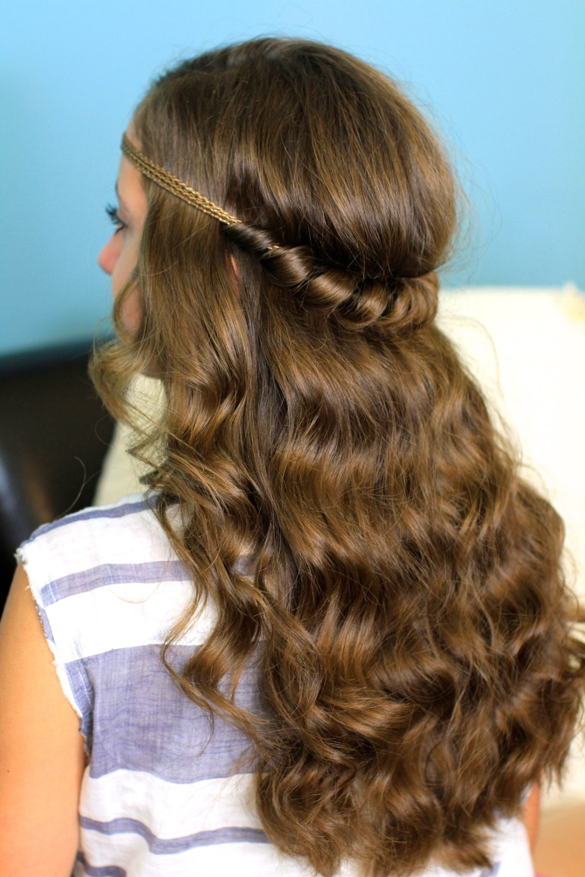 Best ideas about Girls Hair Cut Styles . Save or Pin Headband Twist Half Up Half Down Hairstyles Now.