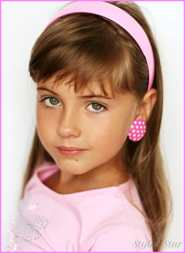 Best ideas about Girls Haircuts With Bangs . Save or Pin Little girl haircuts with bangs StylesStar Now.