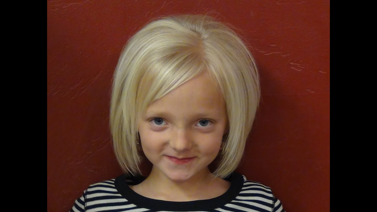 Best ideas about Girls Hairstyle Short . Save or Pin Cut Short HairStyles into Little Girl s Hair Tutorial Now.