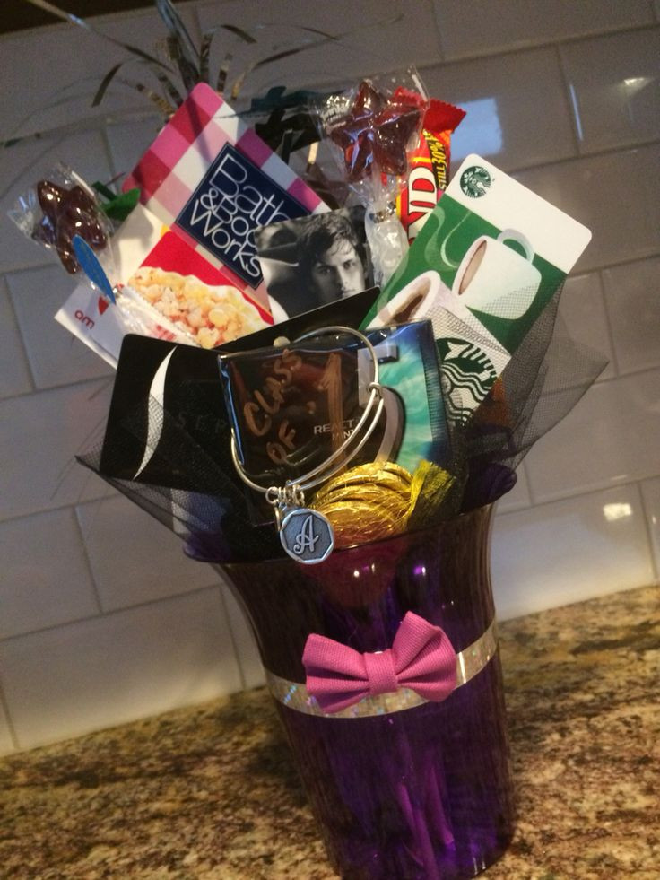Best ideas about Girls High School Graduation Gift Ideas . Save or Pin 8th grade girl graduation t card bouquet Used colors Now.