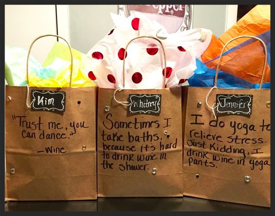 Best ideas about Girls Weekend Gift Bag Ideas . Save or Pin Quotes about wine Gift bags and Girls weekend on Pinterest Now.