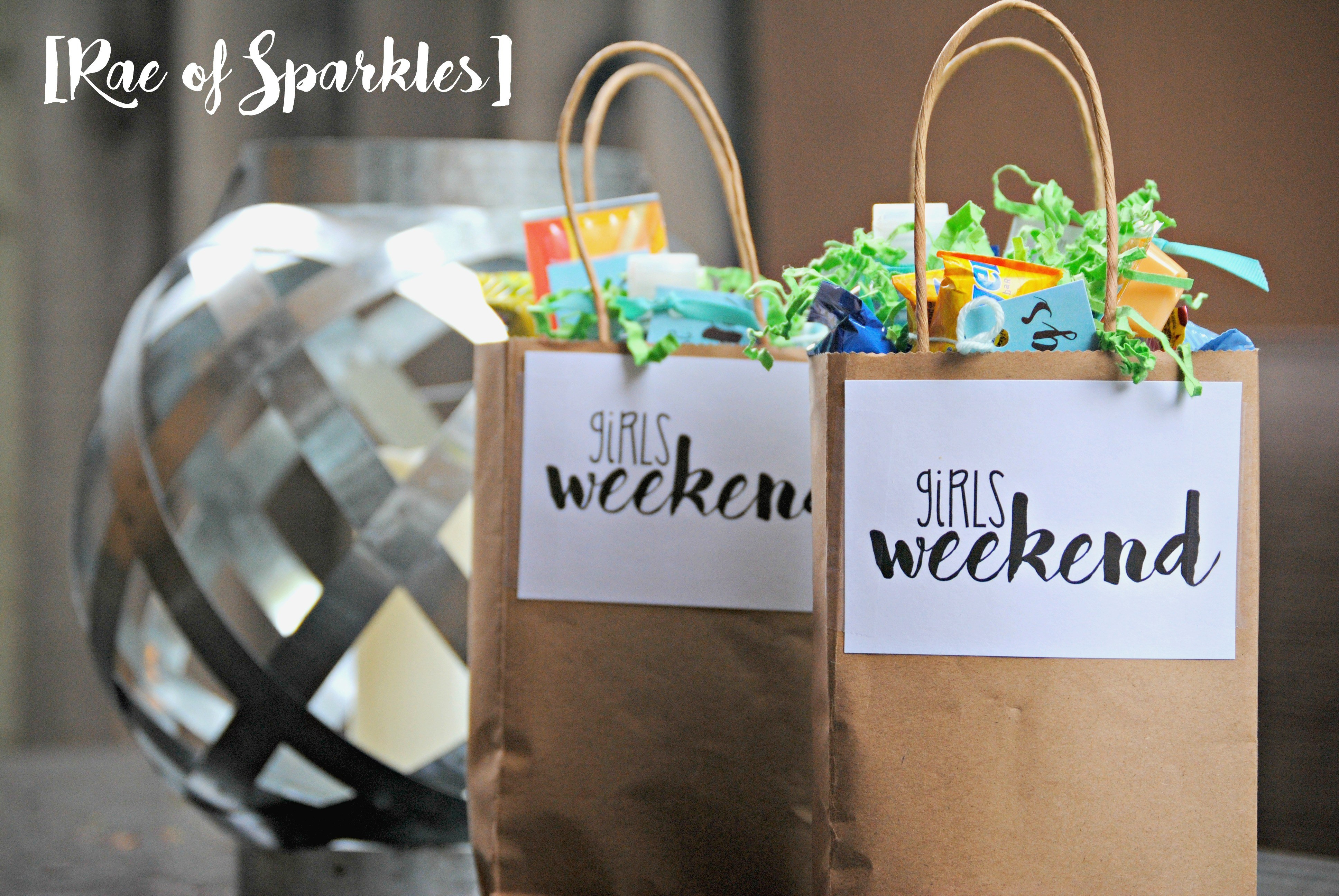Best ideas about Girls Weekend Gift Bag Ideas . Save or Pin Girls Weekend Gift Bags Now.