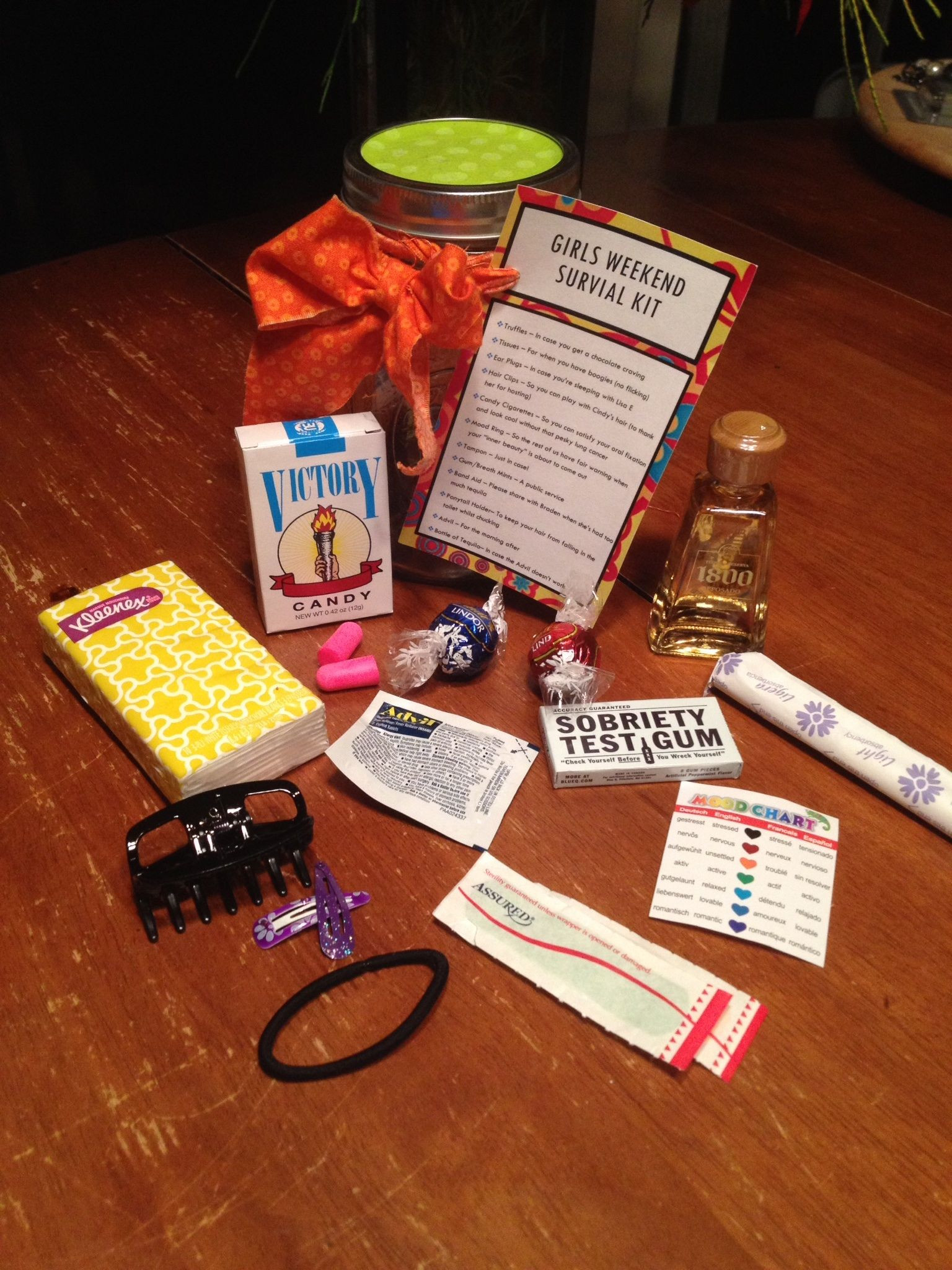 Best ideas about Girls Weekend Gift Bag Ideas . Save or Pin Girls Weekend Survival Kit the ingre nts Now.