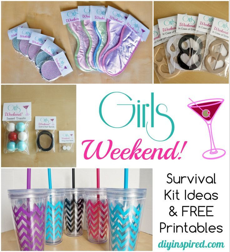 Best ideas about Girls Weekend Gift Bag Ideas . Save or Pin DIY Bachelorette Party Favor Ideas FREE Printable Now.