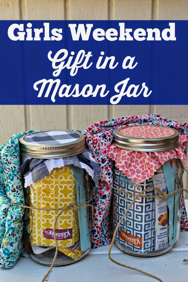 Best ideas about Girls Weekend Gift Bag Ideas . Save or Pin Girls Weekend Gift in a Mason Jar Now.