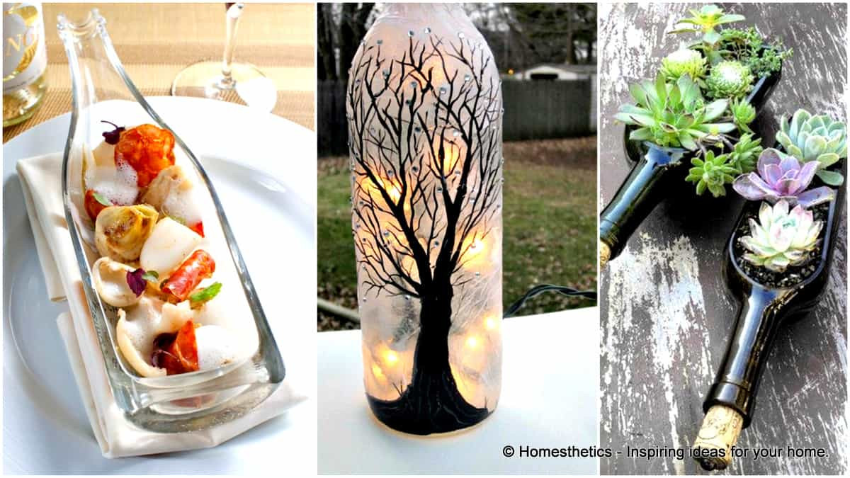 Best ideas about Glass Bottle Craft Ideas . Save or Pin 44 DIY Wine Bottles Crafts And Ideas How To Cut Glass Now.