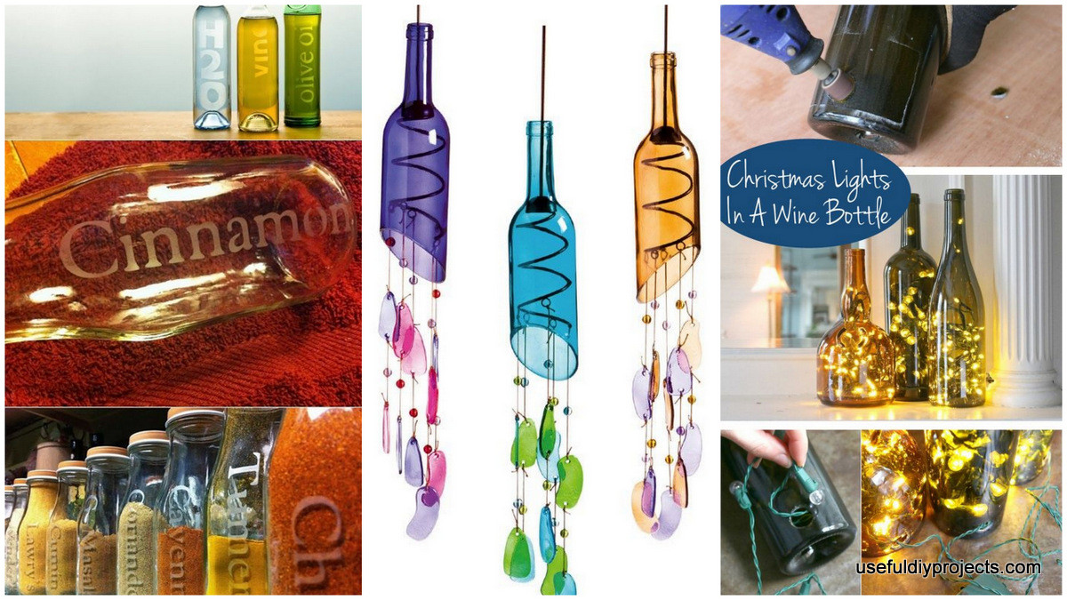 Best ideas about Glass Bottle Craft Ideas . Save or Pin 16 Glass Bottle Crafts For Home Decor and Gift Ideas Now.